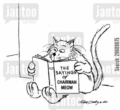 kitties cartoon humor: The saying of Chairman Meow.