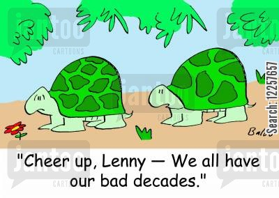 decades cartoon humor: 'Cheer up, Lenny -- We all have our bad decades.'