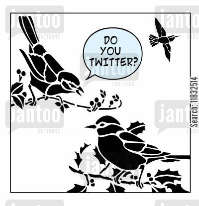 twit cartoon humor: Do you Twitter?