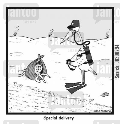 special delivery cartoon humor: Special Delivery
