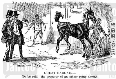 victorian officers cartoon humor: Great Bargain