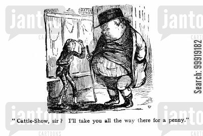victorian tourist cartoon humor: Cattle Show