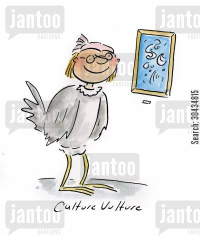 cultural pursuits cartoon humor: Culture Vulture