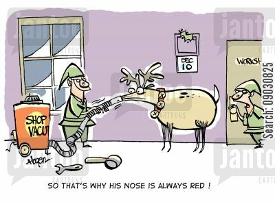 horseplay cartoon humor: 'So that's why his nose is always red!'