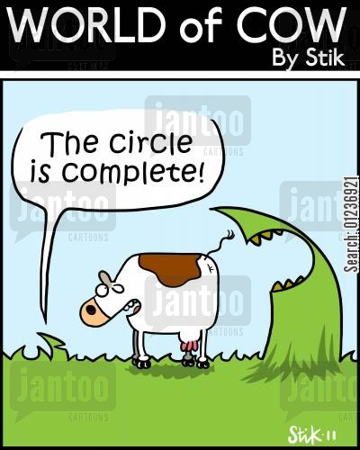 grasses cartoon humor: 'The circle is complete!'