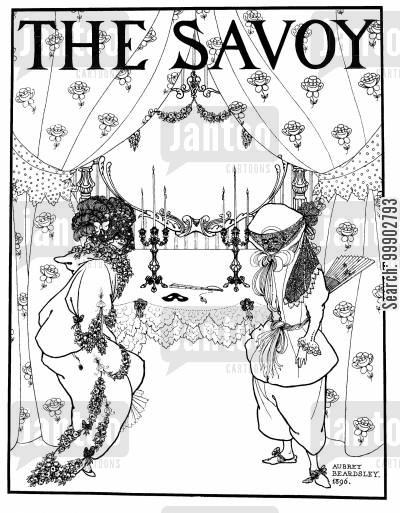 avante garde cartoon humor: Titlepage to The Savoy (Nos. 1&2)