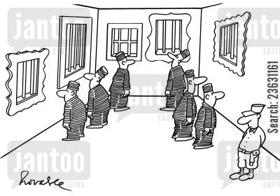 art lovers cartoon humor: Exhibition for Prisoners