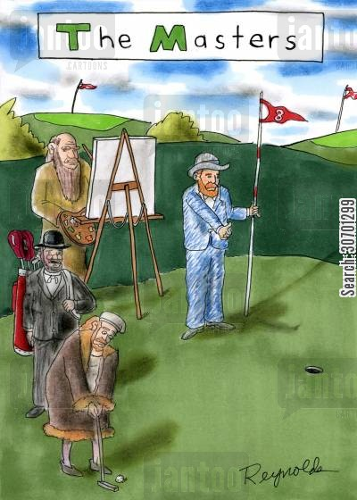 golf masters cartoon humor: The Masters.