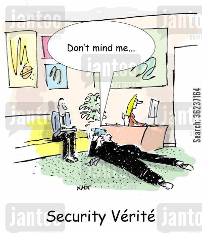 security verite cartoon humor: Security Verite
