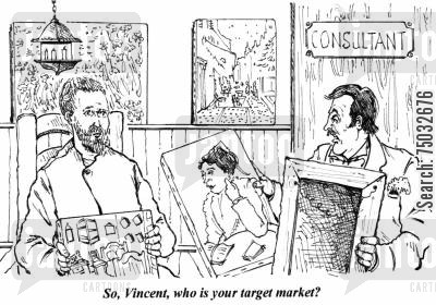 target markets cartoon humor: 'So, Vincent, who is your target market?'