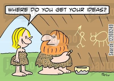 muses cartoon humor: 'Where do you get your ideas?'