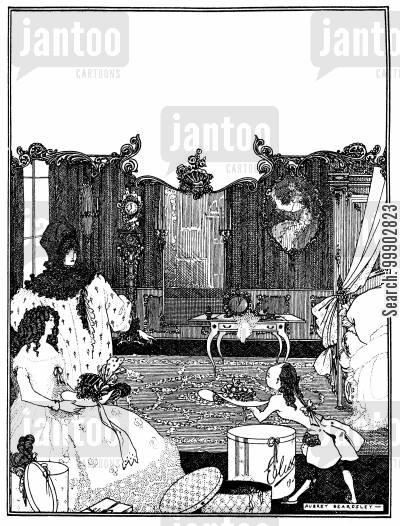 victorian culture cartoon humor: Cover Design for the Savoy (No. 2)
