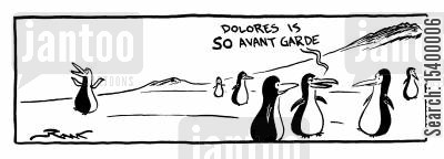 antarctic cartoon humor: Dolores is so avant garde.