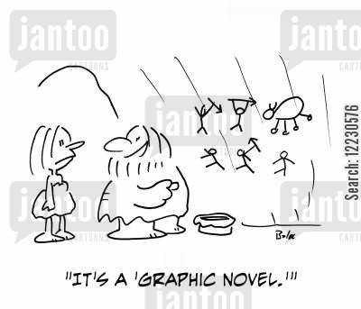 graphic novels cartoon humor: 'It's a 'graphic novel.''