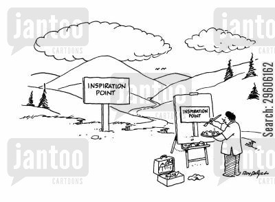 inspire cartoon humor: Inspiration Point.