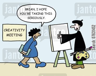 oil painting cartoon humor: Brian, I hope you're taking this seriously.