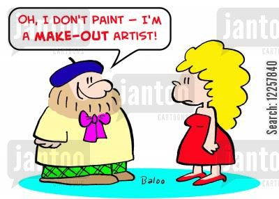 artists models cartoon humor: 'Oh, I don't paint -- I'm a make-out artist!'