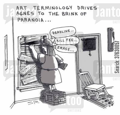 erase cartoon humor: Art Terminology Drives Agnes to the Brink of Paranoia,