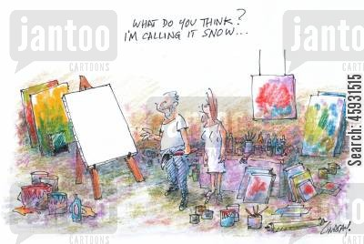 modern artists cartoon humor: What do you think? I'm calling it Snow.