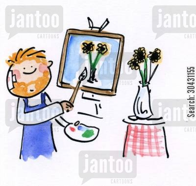 dutch cartoon humor: Van Gogh.