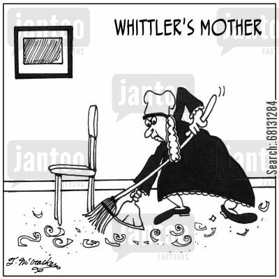pocket knife cartoon humor: Whittler's Mother.