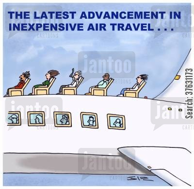 passenger flights cartoon humor: The Latest Advancement In Inexpensive Air Travel...