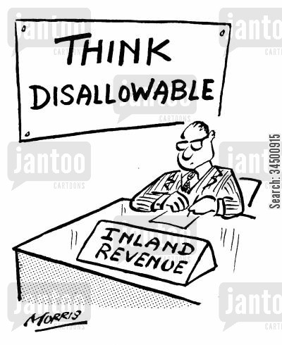 persume cartoon humor: Inland Revenue 'Think Disallowable'