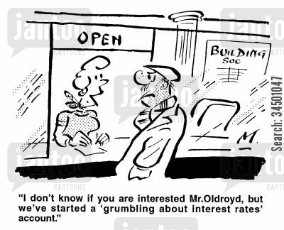 grumble cartoon humor: 'Grumbling about interest rates' account