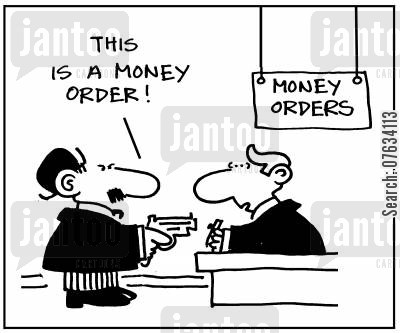 money orders cartoon humor: 'This is a money order'