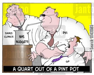 darzi cartoon humor: A Quart Out Of A Pint Pot.