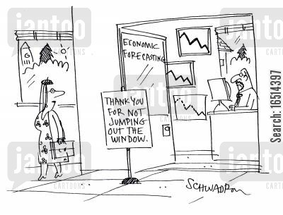 economist cartoon humor: Economic Forecasting.