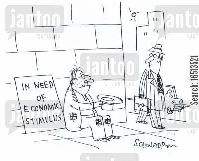 stimuli cartoon humor: In Need of Economic Stimulus.