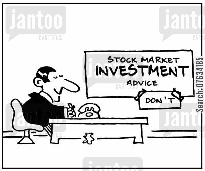 employ cartoon humor: Stock market investment advice