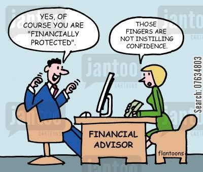 financial protection cartoon humor: Of course you are financially protected!