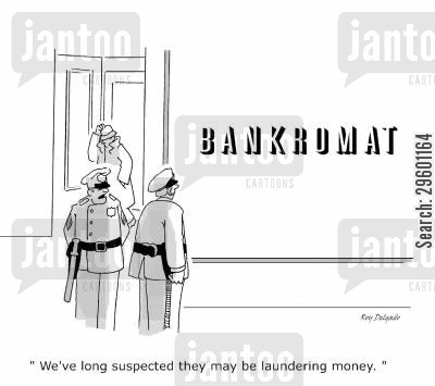 doing laundry cartoon humor: 'We've long suspected they may be laundering money.'