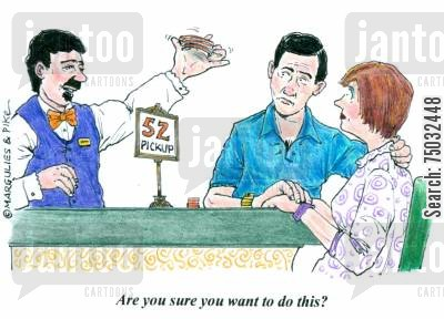 monte carlo cartoon humor: 'Are you sure you want to do this?'