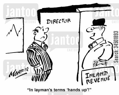 fiddle cartoon humor: In layman's terms 'hands up'!