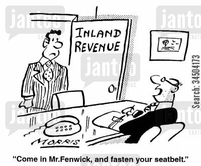 inquisition cartoon humor: Come in Mr. Fenwick, and fasten your seatbelt.