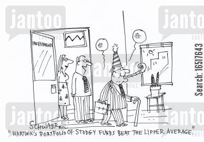 lipper average cartoon humor: 'Hartwik's portfolio of stodgy funds beat the lipper average.'