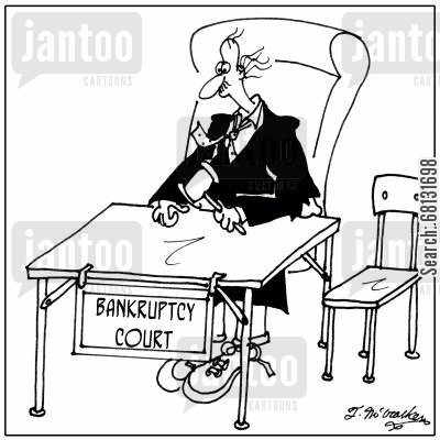 bankruptcy order cartoon humor: Bankruptcy Court.