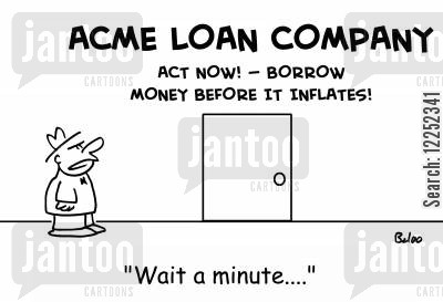inflates cartoon humor: 'Wait a minute....!