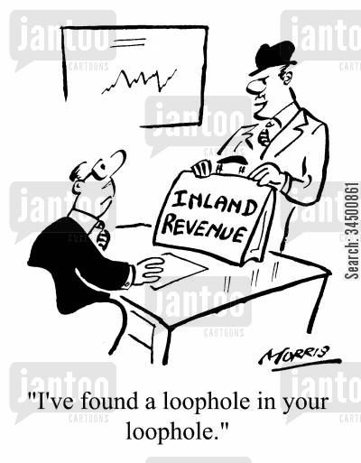 out smarted cartoon humor: I've found a loophole in your loophole
