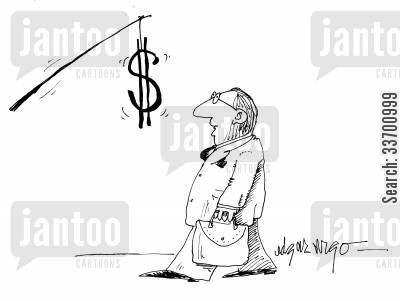 city trader cartoon humor: Money is the Incentive.