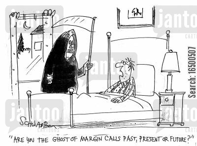 ghost of past present and future cartoon humor: Are you the ghost of margin calls past, present or future?