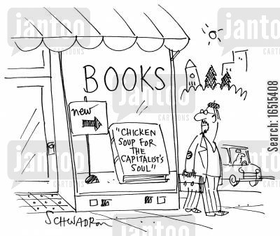 essays cartoon humor: 'Chicken soup for the Capitalist's soul'