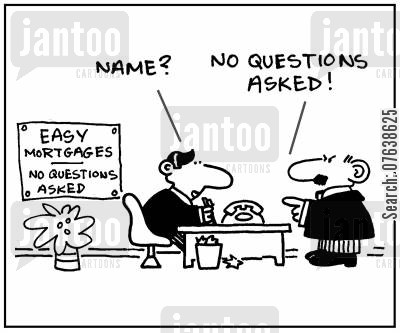 crediting cartoon humor: 'Name? No questions asked.'