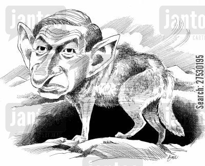 paul wolfowitz cartoon humor: Paul Wolfowitz.
