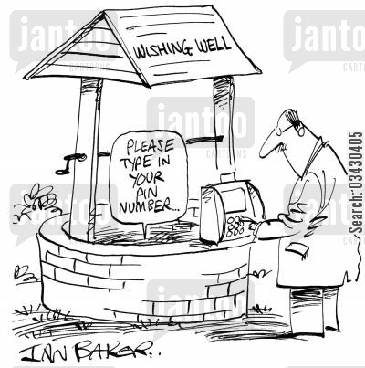 credit cards cartoon humor: Please type in your pin number...