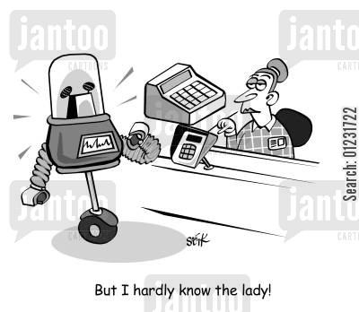 chip and pin cartoon humor: But I hardly know the lady!
