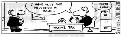 deducted cartoon humor: 'I have only one deduction to make...you're lying!'
